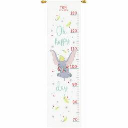 Disney: Dumbo Oh Happy Day Height Chart Cross Stitch Kit