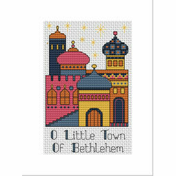 Bethlehem Gold Cross Stitch Christmas Card Kit
