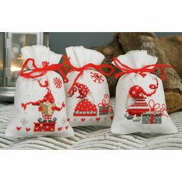 Christmas Gnomes Pot Pourri Bags Set of 3 Cross Stitch Kits