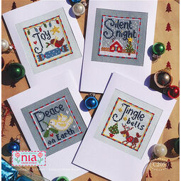Joy Cross Stitch Christmas Card Kits (set of 4)
