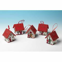 Set Of 5 Santa House 3D Cross Stitch Kits