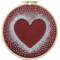 Heart Beadwork Embroidery Kit