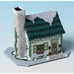 Mistletoe Cottage 3D Cross Stitch Kit