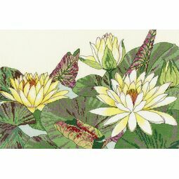 Water Lily Blooms Cross Stitch Kit