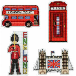 England Magnets Cross Stitch Kit