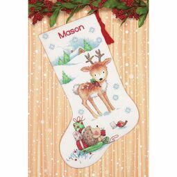 Reindeer & Hedgehog Stocking Cross Stitch Kit