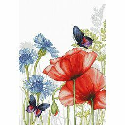 Poppies & Butterflies Cross Stitch Kit