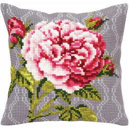 Tender Rose 1 Cross Stitch Cushion Panel Kit