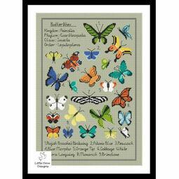 Kaleidoscope Of Butterflies Cross Stitch Kit
