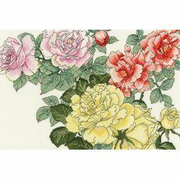 Rose Blooms Cross Stitch Kit