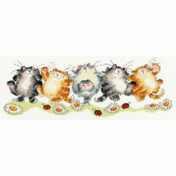 The Cat-Can Cross Stitch Kit