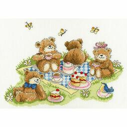 Teddy Bears' Picnic Cross Stitch Kit