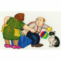 Beryl Cook That's The Cat's Chair Cross Stitch Kit