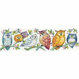 Owls On Parade Cross Stitch Kit
