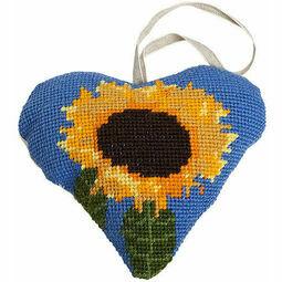 Sunflower Lavender Heart Tapestry Kit