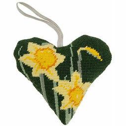 Daffodil Lavender Heart Tapestry Kit