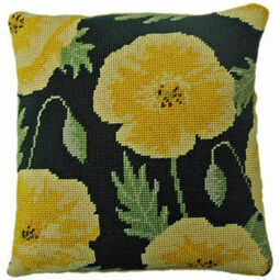 Yellow Poppy Herb Pillow Tapestry Kit