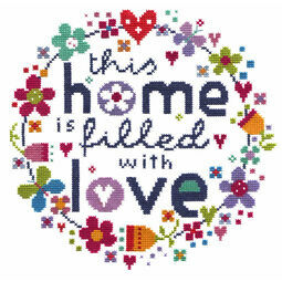 Filled With Love Cross Stitch Kit