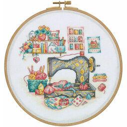 The Sewing Box Cross Stitch Hoop Kit