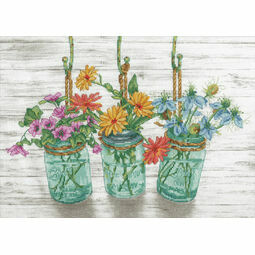 Flowering Jars Cross Stitch Kit