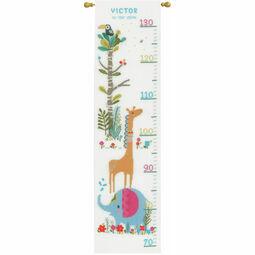 Jungle Animal Fun Height Chart Cross Stitch Kit