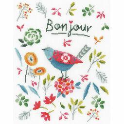 Flower Bird Cross Stitch Kit