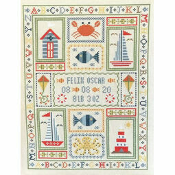 Boat Birth Sampler Cross Stitch Kit