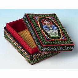 Bright Babushka Box 3D Cross Stitch Kit