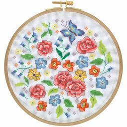 Summer Meadow Cross Stitch Hoop Kit