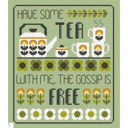 Tea & Gossip Cross Stitch Kit