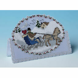 Dashing Through The Snow 3D Cross Stitch Christmas Card Kit