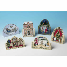 Victorian Cards Set of 6 3D Cross Stitch Christmas Card Kits