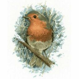 Robin Redbreast by John Stubbs Cross Stitch Kit