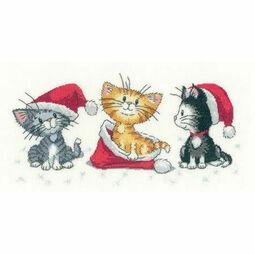 Christmas Kittens (Cats Rule!) Cross Stitch Kit