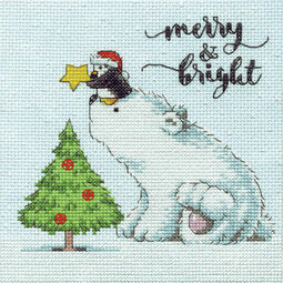 Merry & Bright Bear Cross Stitch Kit