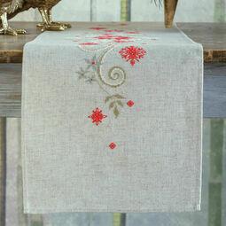 Christmas Motif Embroidery Table Runner Kit