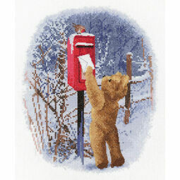 Christmas Post With William Cross Stitch Kit