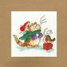Just For You Cross Stitch Christmas Card Kit