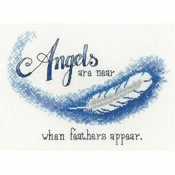 Angels Are Near Cross Stitch Kit