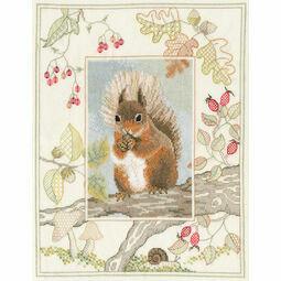 Wildlife - Red Squirrel Cross Stitch Kit