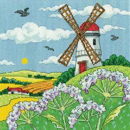 Windmill Landscape Cross Stitch Kit
