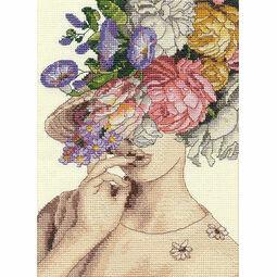 Garden Lady Cross Stitch Kit