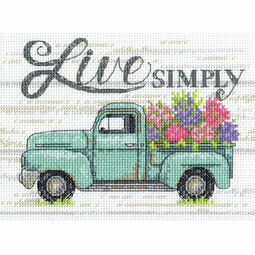 Flower Truck Cross Stitch Kit