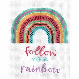 Follow Your Rainbow Cross Stitch Kit