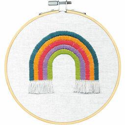 Rainbow Embroidery Hoop Kit