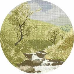 Mountain Stream Cross Stitch Kit