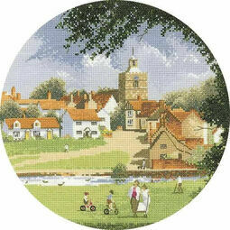 Sleepy Village Cross Stitch Kit
