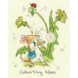 Collecting Kisses Cross Stitch Kit