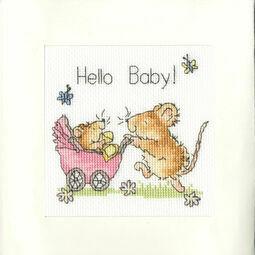 Hello Baby! Cross Stitch Card Kit