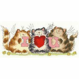 I Heart U Cross Stitch Kit